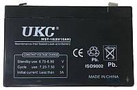 Аккумулятор для аварийного освещения UKC 6V 10Ah WST-10 переносной, универсальный