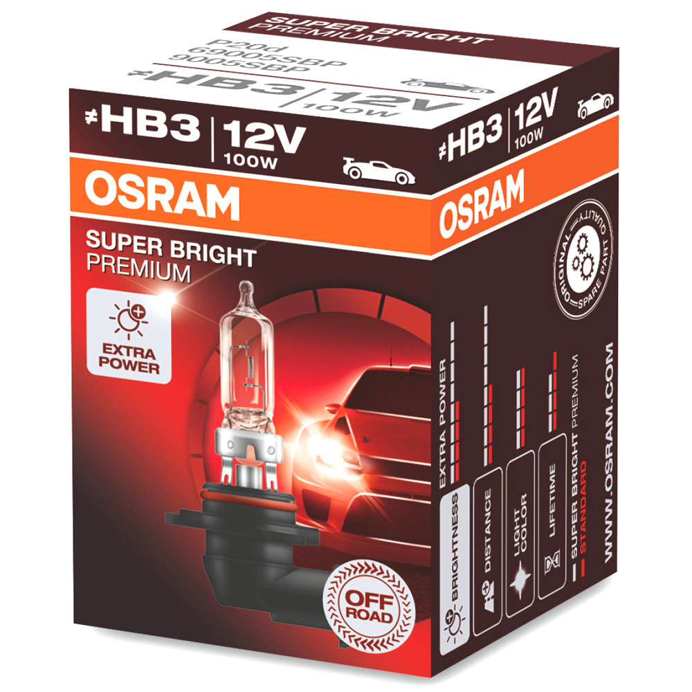 Автолампи Osram NIGHT BREAKER LASER +150% HB3 60W 12V (9005NL)