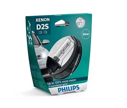 Лампа Ксенонова PHILIPS Xenon X-tremeVision Gen2 D2S 35W 85V (85122XV2S1)