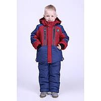 Зимний комбинезон с курткой на мальчика Чемпион синий р. 98-104