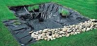 Пленка черная строительная в рулонах для строительства и создания прудов, 6 м ширина, 100 мкм толщина