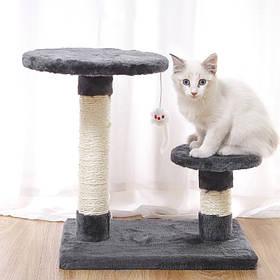 Когтеточка для кота Taotaopets 046609 40*30*40 см Gray