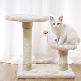 Когтеточка для кота Taotaopets 046609 40*30*40 см Beige