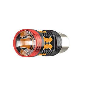 Автомобільна світлодіодна лампа поворот + стоп сигнал DXZ 1156 Yellow потужність 30W