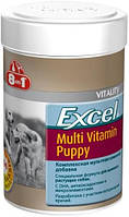 Мультивитамины для щенков Excel Multi Vit-Puppy 8 in 1, 100 таблеток (185 мл)