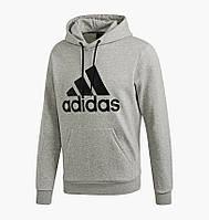 Худи Adidas Must Haves Badge Of Sport Hoodie Fleece Grey DT9946