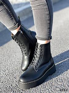 Ботинки женские Olga черные ЗИМА натуральная кожа ))