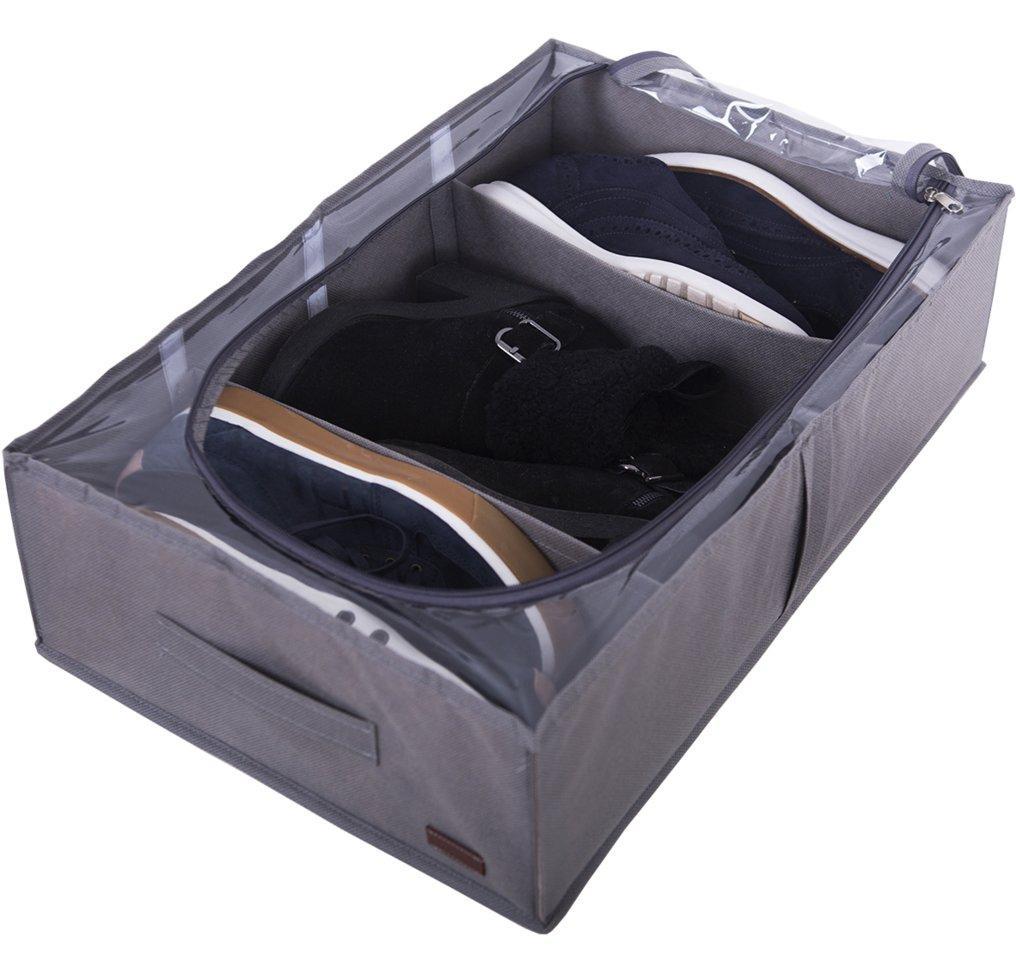 Органайзер для зберігання чобіт і демісезонного взуття зі знімними перегородками Organize сірий SKL34-222102