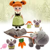 Игровой набор Дисней мини кукла Анна с аксессуарами  Disney Animators' Collection Anna Mini Doll Play Set