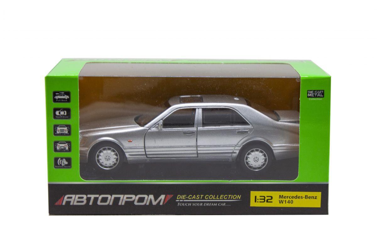 Машинка метал Mercedes-benz S-klass W140 Кабан 1:32, сірий