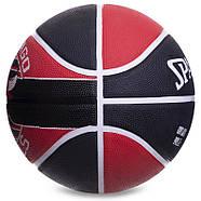 М'яч баскетбольний гумовий №7 SPALDING NBA Team CHICAGO BULLS, фото 4
