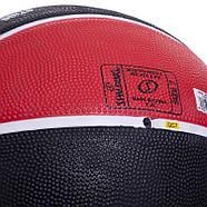 М'яч баскетбольний гумовий №7 SPALDING NBA Team CHICAGO BULLS, фото 3