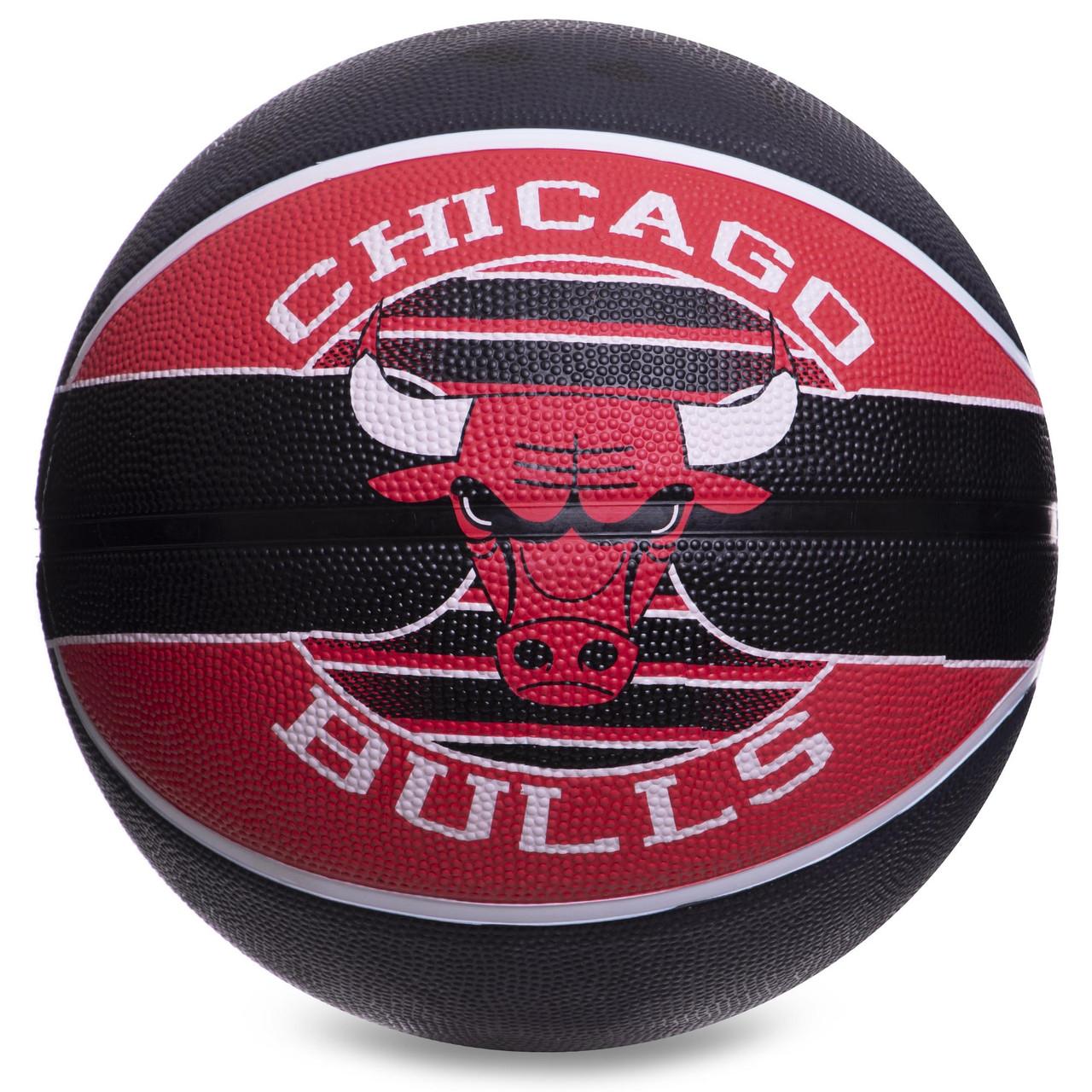 М'яч баскетбольний гумовий №7 SPALDING NBA Team CHICAGO BULLS