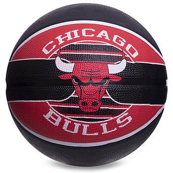 Мяч баскетбольный резиновый №7 SPALDING NBA Team CHICAGO BULLS