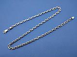 Срібний ланцюжок плетіння Якорная, 60 см., 39 гр, фото 2