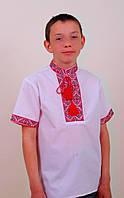 Вышиванка рубашка для мальчика с кротким рукавом