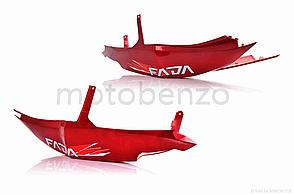 Пластик скутер FADA  QT14  боковины пара, красный