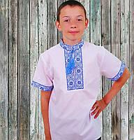 Сорочка вишиванка для хлопчика з лагідним рукавом