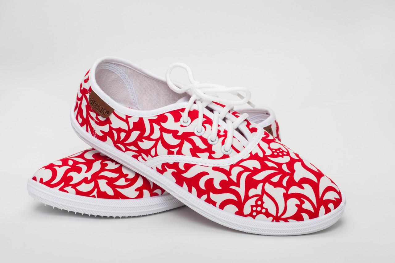 Женские мокасины красные (Код: BS-513)