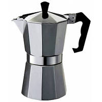 Гейзерная кофеварка 450мл Con Brio CB6009 Silver