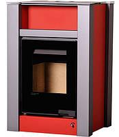 Печь-камин Aquaflam Vario Lend (с водяным контуром) красный