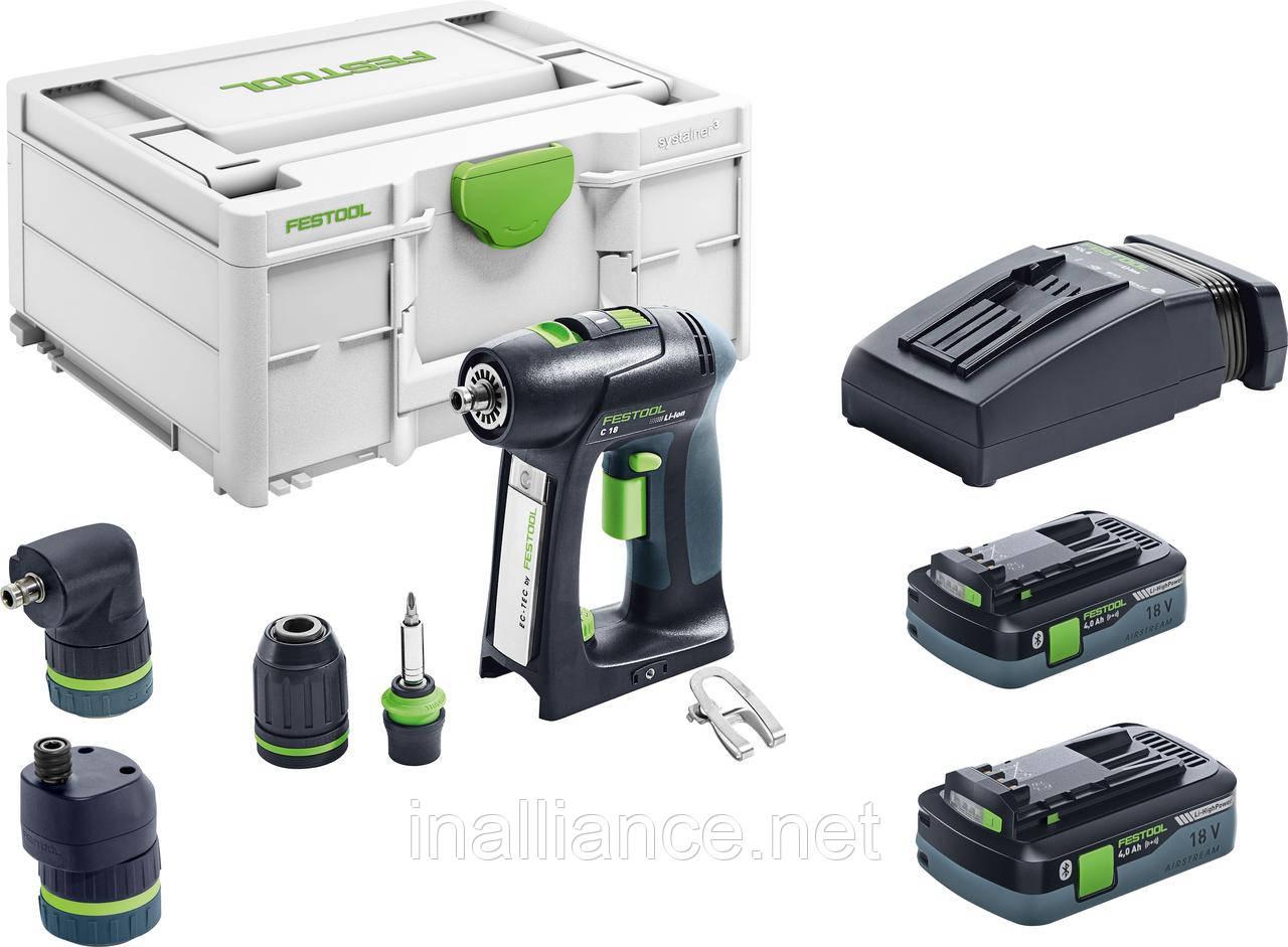 Акумуляторна дриль-шуруповерт C 18 HPC 4,0 I-Set Festool 576992