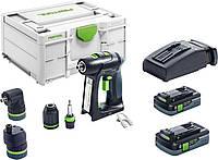 Акумуляторна дриль-шуруповерт C 18 HPC 4,0 I-Set Festool 576992, фото 1