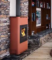 Отопительная печь–камин Aquaflam 17 с водяным контуром авт. рег. (бронза)