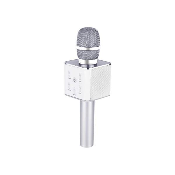 Беспроводной микрофон караоке Q7 Серебрянный