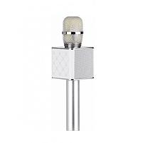 Беспроводной микрофон караоке Q7 Серебрянный, фото 2