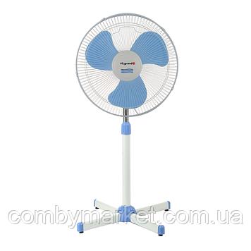 Вентилятор підлоговий (2 шт в уп., 45 Вт) ViLgrand VF400_blue
