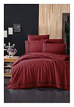 Комплект постільної білизни ранфорс de lux First Choice євро розмір Alisa Red