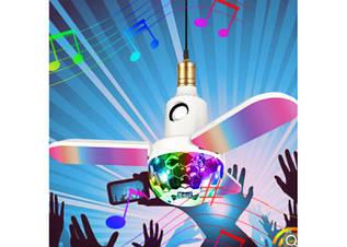 Лампа LED в патрон музыкальна с лопостями. Музыкальная лампа LED