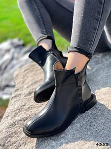 Ботинки женские Thierry черные натуральная кожа ))