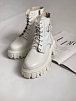 Білі шкіряні черевики розмір 38, фото 1