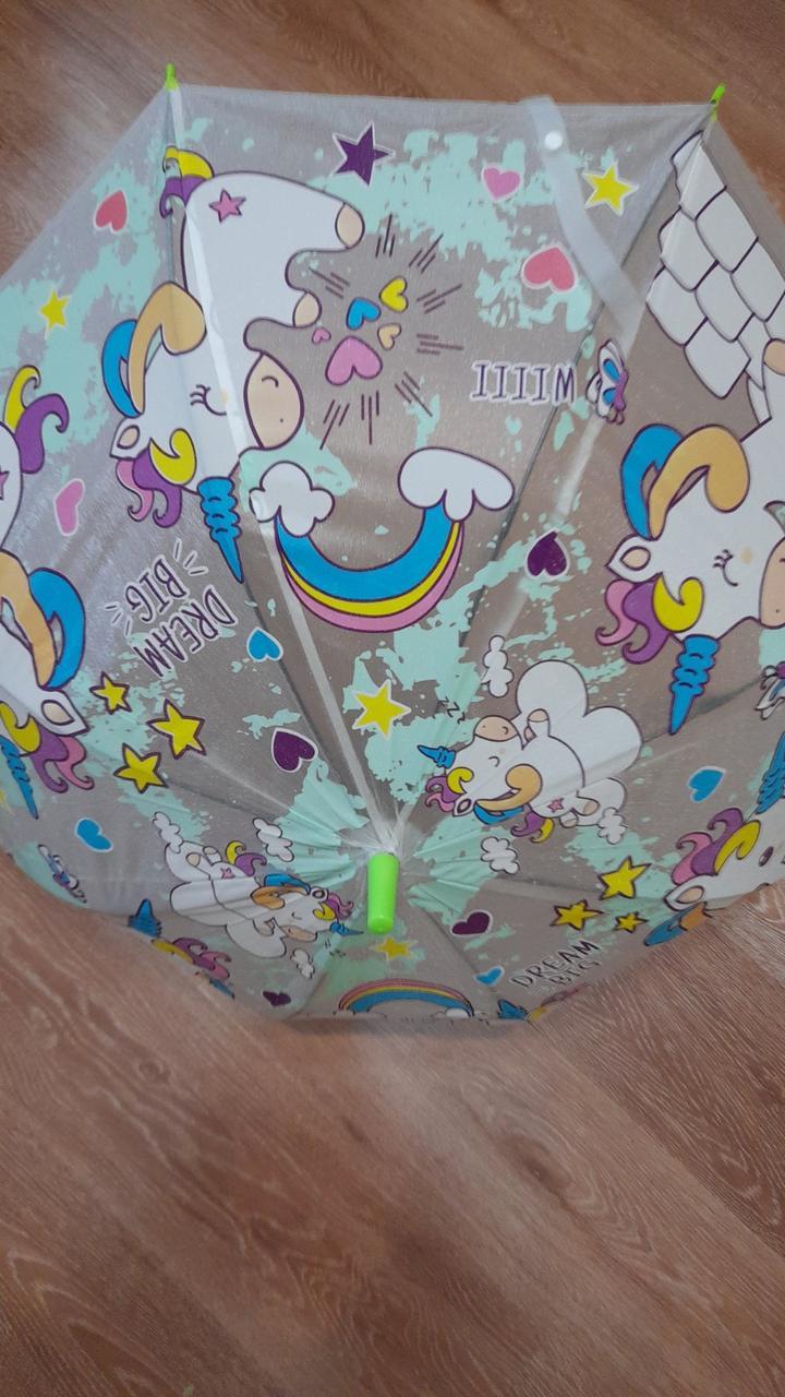 Яскравий парасольку Дитячий парасольку тростину напівавтомат діаметр купола 82 см Спиці - металеві - 8 шт