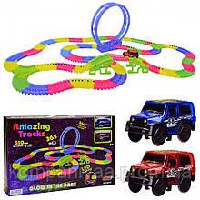 """Детский игрушечный автотрек """"Magic Track"""" со световыми эффектами 8813"""