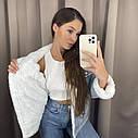 Женская джинсовая курточка на меху, джинсовка на меху, ветровка женская с капюшоном, фото 6