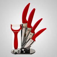 Набор керамических ножей Royalty Line RL-C4ST Red