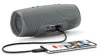 Портативная колонка JBL Charge 3 Серая Блютуз для музыки+ USB лампа