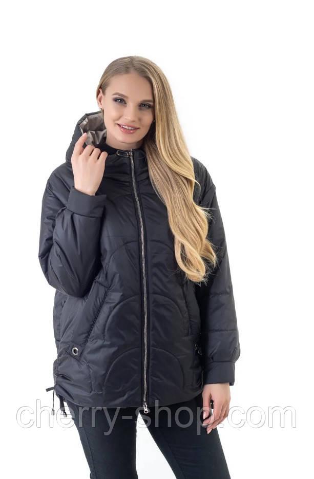 Стильна куртка оверсайз чорного кольору