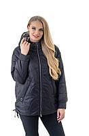Стильна куртка оверсайз чорного кольору, фото 1