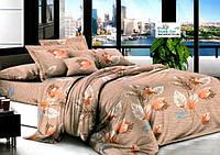 Евро постельное бельё бязь комплект размер 200х215 см наволочки 2 шт 70х70см листочки