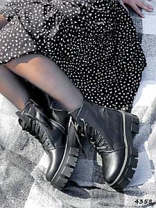 Ботинки женские Luke черные ДЕМИ натуральная кожа ))