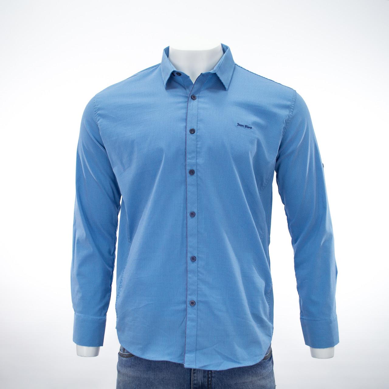 Сорочка чоловіча, приталена (Slim Fit), з довгим рукавом Bagarda JP4810 TURQUOISE 93% бавовна 7% еластан L(Р)