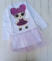 Плаття-туніка дитяча ЛОЛ для дівчинки розмір 4-10 років,принт при замовленні уточнюйте