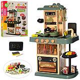 Дитяча велика інтерактивна кухня 889-183 плита, духовка звук, світло посуд продукти 43 предмета, фото 2