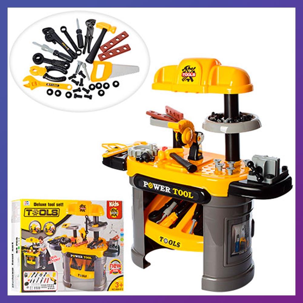 Дитячий ігровий набір інструментів 008-912 стіл з інструментами верстат зі світловими і звуковими ефектами