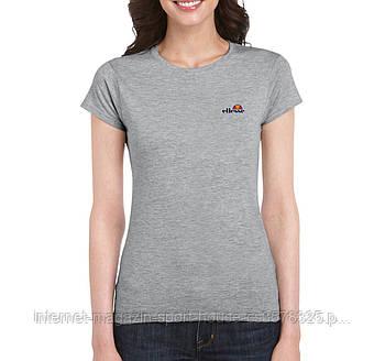 Жіноча бавовняна футболка Еліс (Ellesse) з брендовим логотипом, репліка