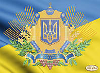 """Рисунок на ткани для вышивания бисером """"Украинская символика"""""""
